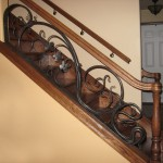 Forged Organic Railing with vines and flowers