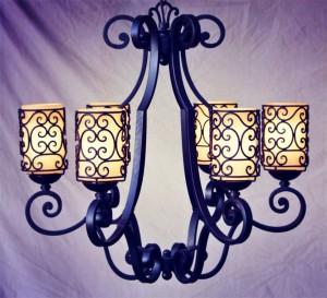 кованые светильники люстры кованные